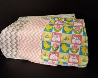 3 piece set of Baby Burp cloths