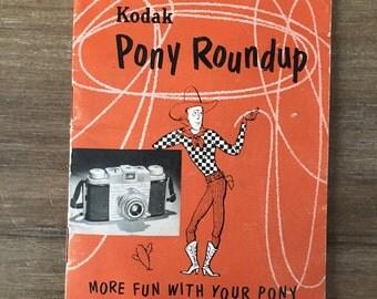 Vintage 1954 Kodak Pony Roundup Camera Instruction Manual
