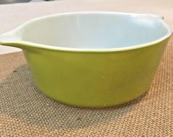 Pyrex Handled Bowl- Vintage- Kiwi Green