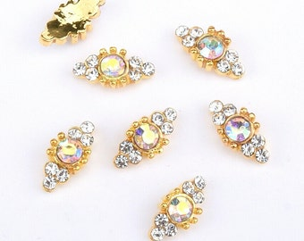 AB Round Crystal  Nail Charms / Nail Jewelry