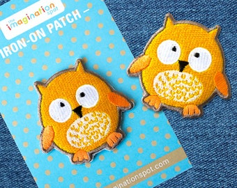 Owl patch - Iron on Patches - Embroidered Patch - Cute Patches - Patches for Jackets - Patch Game - Appliques - Denim Patches - Owl gifts