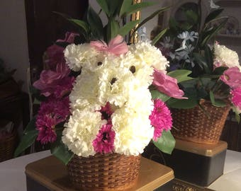 Floral Dog Arrangement -Silk Flowers