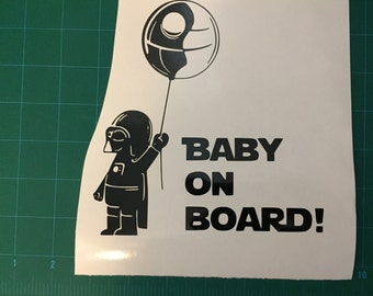 Baby On Board Star Wars Mini Darth Vader Vinyl Decal