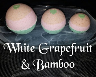 White Grapefruit & Bamboo Bath Bomb