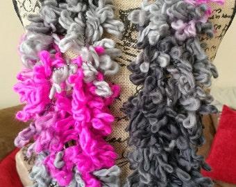 Magenta Ombre Fashion Scarf/Spring Scarf/Summer Scarf/Arm Knit Scarf/Pink Scarf