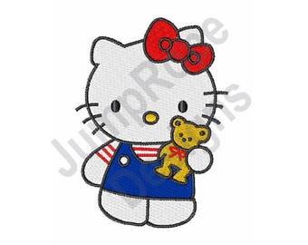 Hello Kitty & Bear - Machine Embroidery Design