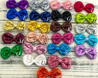 21colors 9cm DIY Shiny Sequin Hair Bows Knot For Hair Clips Fashion Applique Headband Hair Bow For Baby Girl Hair Accessories