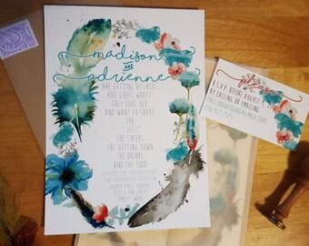 Wedding Invitations - Custom Designed & Printed