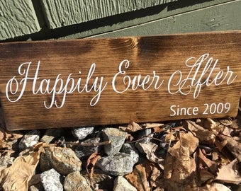"Custom Wood sign - ""Happily Ever After"""