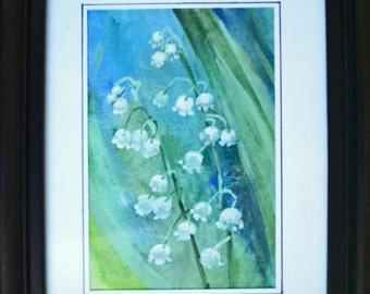 Lilies of the valley Watercolor Painting