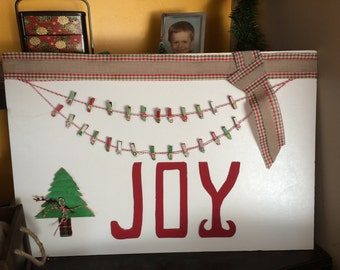 Joy Christmas card display