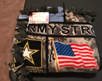 Fleece US Army Throw / Blanket