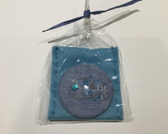 Hand Embroidered Handbag Mirror