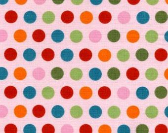 Designer Riley Blake Fabric Pink Polkadot SALE bubblegum pink dot 1 yard polkadot fabric