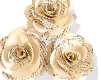 Nancy Drew or Your Favorite Book Vintage Book Page Roses