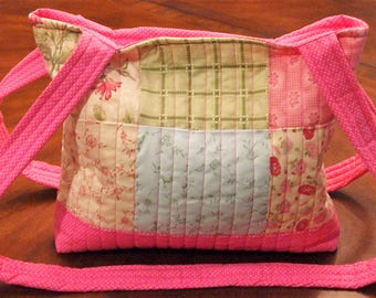 Bright Pink Quilted Tote Bag