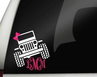 Jeep Monogram, Jeep Girl, Jeep Decal, Jeep Name, Jeep Sticker