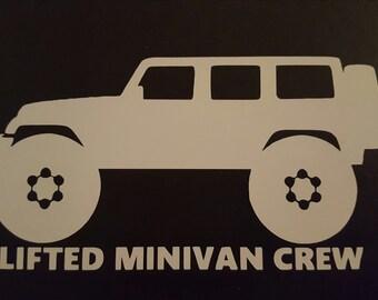 Lifted Minivan Crew Sticker - JK Wrangler