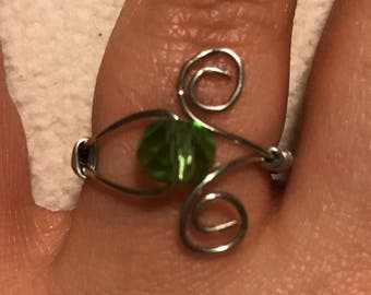 Handmade wire wrapped ring size 8