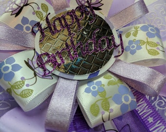 Happy Birthday Ribbon Corsage Rosette