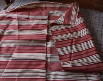 4 Medium weight upholstery fabric Nice stripes 4