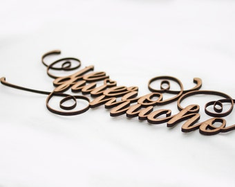 Lettering TKM - Woodden Lettering  to hang on the wall, on a door or on the back of the loved one.