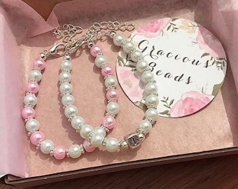 Intial & Matching Pearl set!