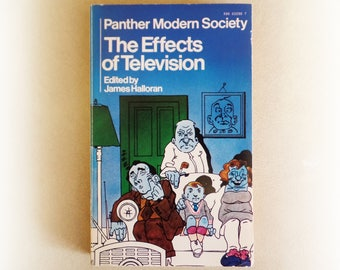 Panther Modern Society - The Effects of Television - vintage paperback book - 1970