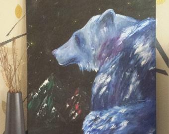 Polar night extra large oil painting