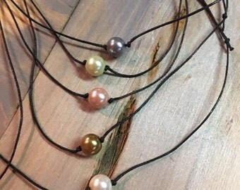 Hand Made Glass Pearl Necklaces