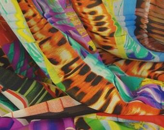 Bright Multi Strip Print Fabric