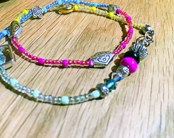Colorful Beads Silver Findings