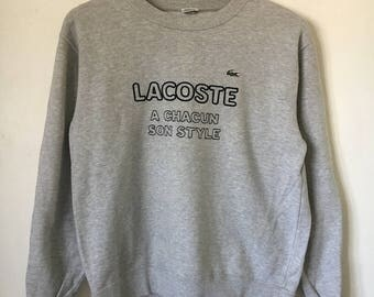 Retro Lacoste jumper, size S