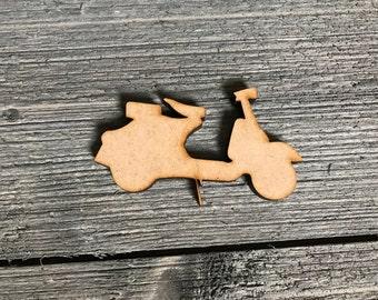 Vespa/Scooter/ Embellishments/ party supplies/ craft supplies/ vespa cut out/ Wood vespa/ Laser cut/ Diy/ Diy crafts/ Wood Shapes/Shapes