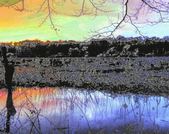 """limited artistic Photography """"twilight"""" by Thomas de Bur Germany 100% cotton canvas gallery photograph certificate"""