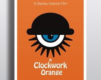 Clockwork Orange A3 Minimalist Poster