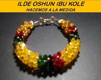 Ide Oshun Kole santeria ifa elaborado en cristales Swarovski