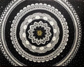 Mandala floating through space