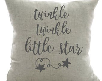Twinkle Twinkle Little Star Pillow-Nursery Pillow, Star, Baby Gift, Baby Pillow, Newborn Gift, Baby Shower Gift, Gender Reveal Gift