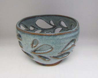 Blue Orchid Pot/Planter/Berry Bowl