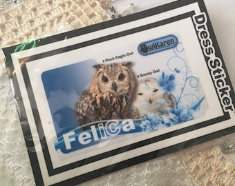 IC card sticker (the OWL, snowy owl)