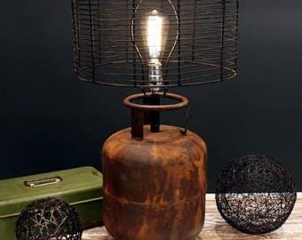 Industrial Tank Lamp - Table Lamp - Metal Lamp - Desk Lamp - Lighting - Table Light - Metal Light - Rustic Tank Lamp - Vintage Desk Lamp