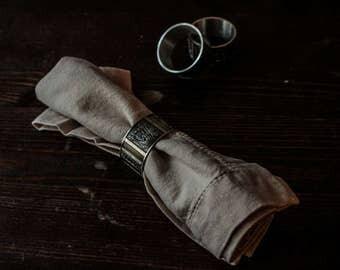 3 Konge-Tinn Norwegian Pewter Napkin Ring Holders