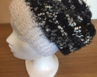 Ladies Loomed Knit Slouchy Hat