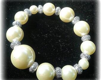Pretty in Pearls -Beaded Bracelet