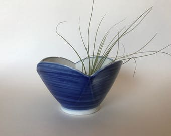 Blue Lotus Bowl | Blue and White Pottery | Chinoiserie Bowl