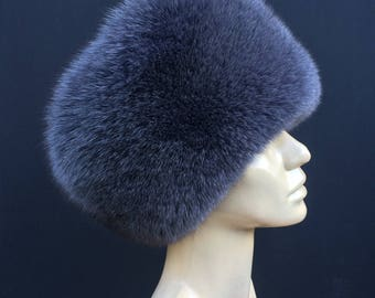 Grey Fox Fur Hat
