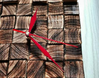 Burnt wooden clock