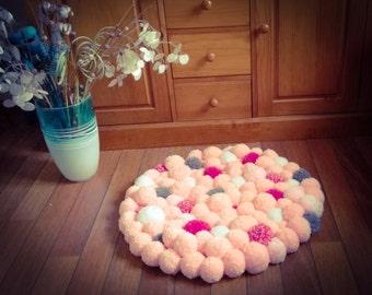 Carpet pink PomPoms