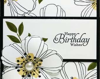 Birthday Card, Stampin Up Handmade Card, Floral Birthday Card, Birthday Card For Her, Handmade Greeting Card